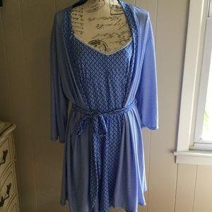 And Ashley Pajama Robe Set Laura Chemise 3c4LqR5Aj